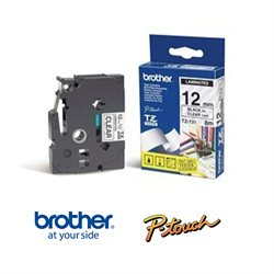 Brother TZ131 Tape - Sort tekst, Klar tape. 12 mm