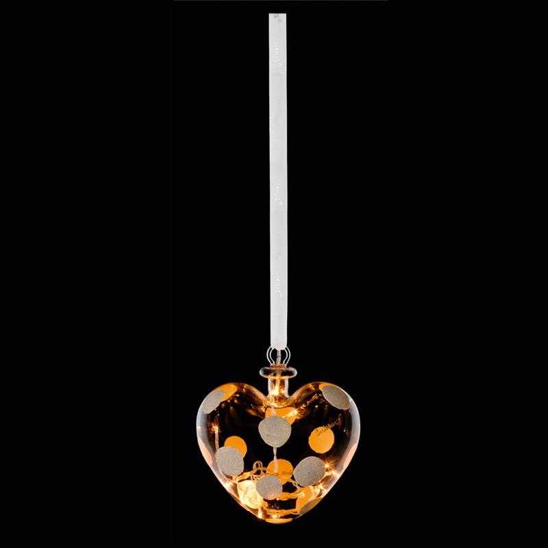 Sirius - Snowball - Hjerte - Diameter 15 cm - med 14 LED