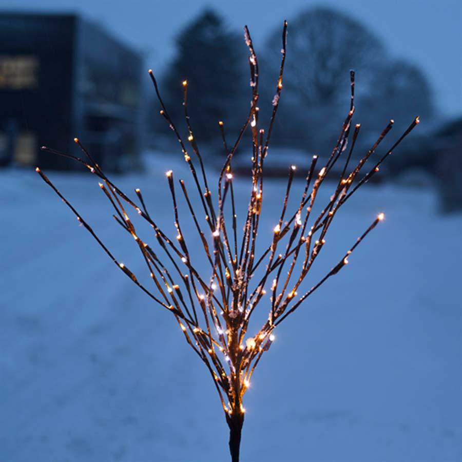 Lystræ til batteri - Sirius Time-Line - træ med 70 LED