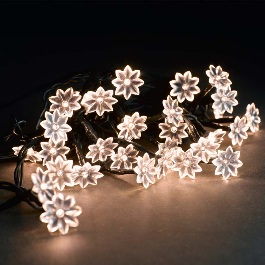 Emil lyskæde - Transparent ledning - 30 hvide LED