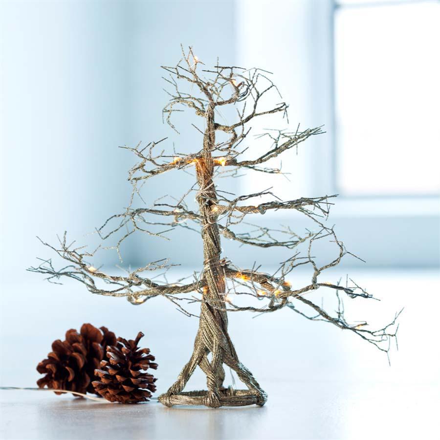 Sirius - Troll træ med 24 LED - til batteri. Champagne